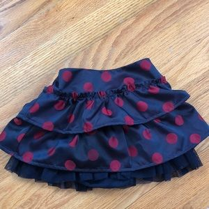 Gap polka dot skirt w tulle lining